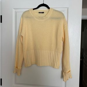 Nasty Gal yellow knit sweater